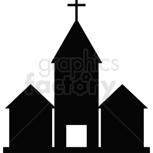 religious church buildings silhouette vector clipart. Royalty-free image # 410419