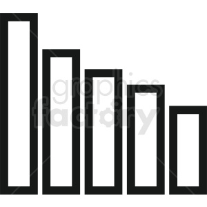 bar chart vector outline clipart. Royalty-free image # 410457