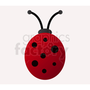 ladybug with black spots clipart. Commercial use image # 410477