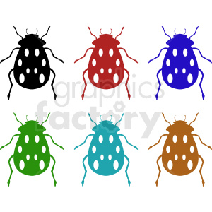 bug clipart set