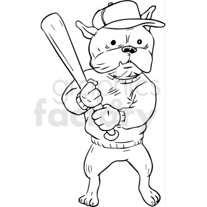 dog batter clipart. Commercial use image # 410526