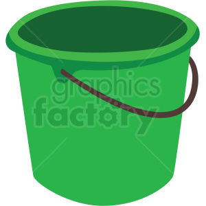 green bucket vector clipart clipart. Commercial use image # 410539