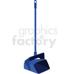 standing dust pan vector clipart clipart. Commercial use image # 410544