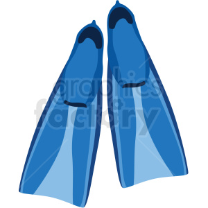 blue scuba flippers vector clipart clipart. Commercial use image # 410579