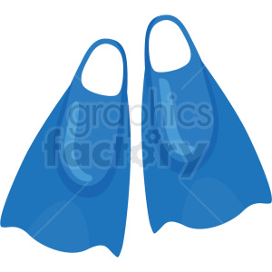 swimming flippers vector clipart clipart. Royalty-free image # 410614