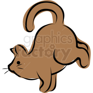 cartoon cat doing yoga rooster pose vector clipart. Commercial use image # 410639