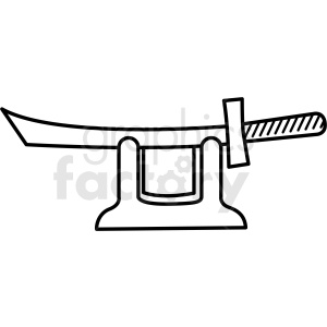 japanese samurai sword vector icon clipart. Commercial use image # 410689