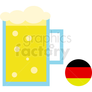 Oktoberfest beer mug with german icon clipart. Royalty-free image # 410712