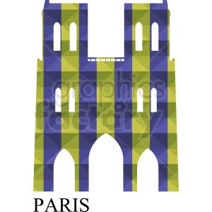 Notre Dame Paris vector clipart clipart. Royalty-free image # 410716