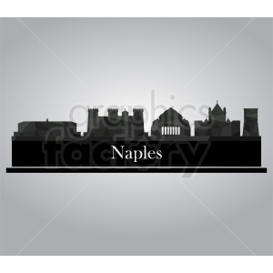 Naples vector skyline clipart. Commercial use image # 410739