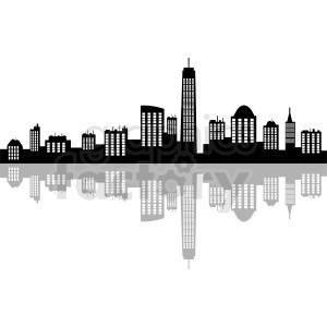 New York city vector skyline clipart. Commercial use image # 410776