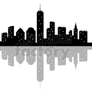 New York night vector skyline clipart. Commercial use image # 410778