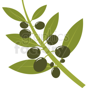 vector olive branch clipart clipart. Royalty-free image # 410790