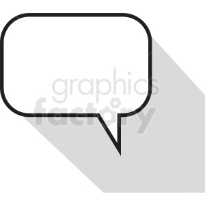 speech bubble vector clipart no background