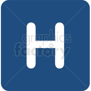 hospital symbol vector icon clipart. Commercial use image # 410866