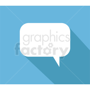 speech bubble vector clipart on blue background clipart. Commercial use image # 410877
