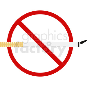 no cigarette smoking vector icon clipart. Royalty-free image # 410892