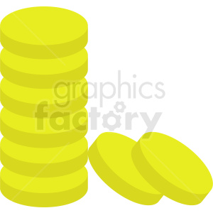 gold coins vector clipart clipart. Royalty-free image # 410896
