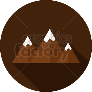 brown mountain vector on circle background clipart. Commercial use image # 410950