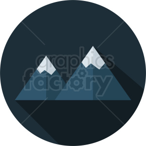 night mountain vector icon on circle background clipart. Royalty-free image # 410967