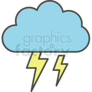 lightning cloud vector clipart clipart. Commercial use image # 410968