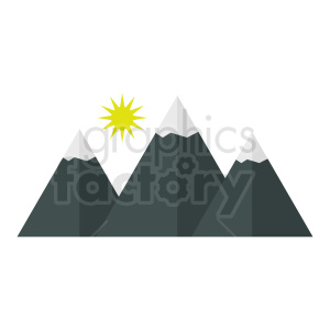 mountain vector icon clipart. Royalty-free image # 410990