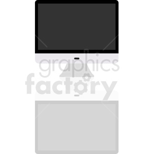 mac monitor vector clipart