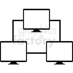 computer network vector clipart clipart. Commercial use image # 411012
