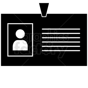 office id badge vector clipart. Royalty-free image # 411042