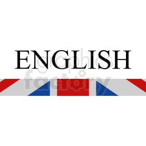 English flag vector clipart clipart. Royalty-free image # 411105