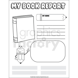 doodle notes printable book report template