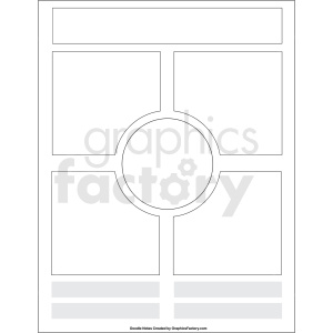 doodle notes printable report template clipart. Royalty-free image # 411148