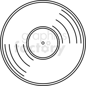 vinyl record vector clipart no background