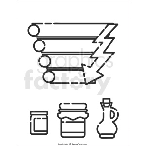ingredients doodle note printable page clipart. Royalty-free image # 411182