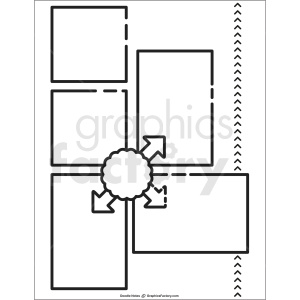 generic doodle note printable page clipart. Commercial use image # 411187