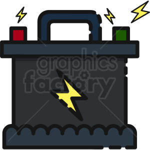 car battery vector clipart icon clipart. Royalty-free image # 411195