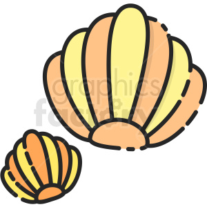 Clam vector clipart clipart. Royalty-free icon # 411203