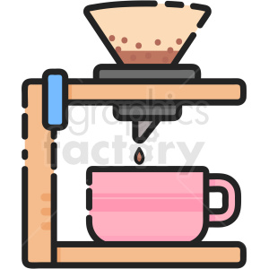 Filter Coffee vector clipart clipart. Royalty-free icon # 411205