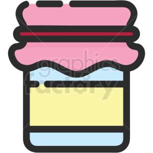 jelly jar vector icon clipart. Commercial use image # 411222