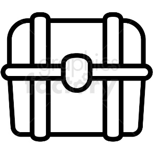 simple treasure chest vector icon clipart. Royalty-free image # 411236
