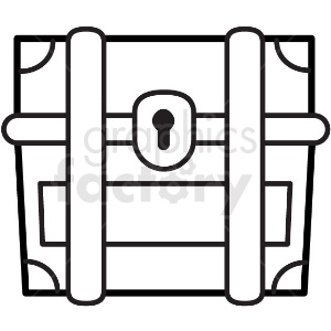 treasure chest vector icon clipart. Royalty-free image # 411238