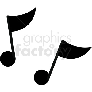 music notes vector image clipart. Commercial use image # 411243