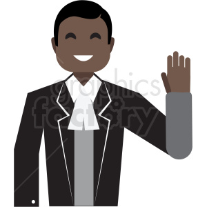 black politician flat icon vector icon clipart. Commercial use image # 411307