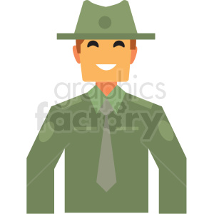 ranger flat icon vector icon clipart. Commercial use image # 411311