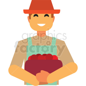 farmer flat icon vector icon clipart. Royalty-free image # 411317