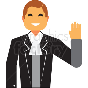 politician flat icon vector icon clipart. Royalty-free image # 411329