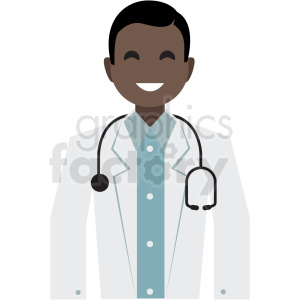 black doctor flat icon vector icon clipart. Commercial use icon # 411337