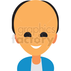 bald man avatar icon vector clipart clipart. Royalty-free image # 411506