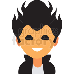 cool guy avatar icon vector clipart clipart. Commercial use image # 411529