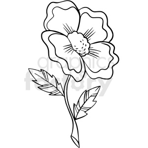 black and white daffodil flower vector clipart clipart. Royalty-free image # 411538